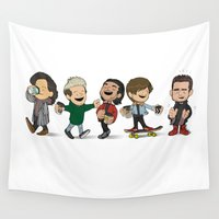 1d Wall Tapestries featuring Schulz 1D Coffee Run by Ashley R. Guillory