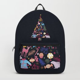 Magic of a christmas tree Backpack