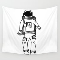 astronaut Wall Tapestries featuring Astronaut by Indigo K