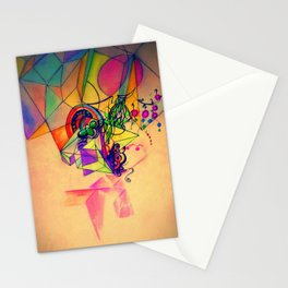 Rainbow crystal Stationery Cards