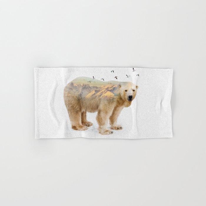 Wild I Shall Stay | Polar Bear Hand & Bath Towel