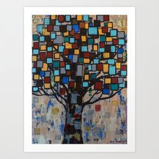 :: Stained Glass Tree :: Art Print