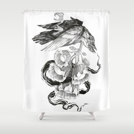 Soul of a Raven Shower Curtain