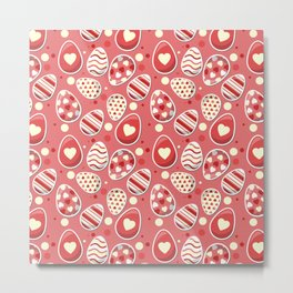 Cute colorful easter egg pattern Metal Print