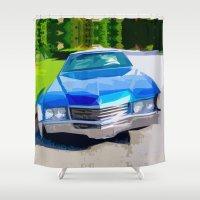 coachella Shower Curtains featuring 1970 Cadillac Eldorado by Bruce Stanfield