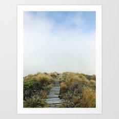 New Zealand Cloud Track Art Print