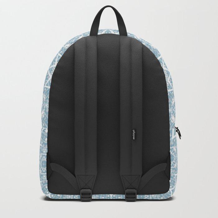 Winter morning. Backpack