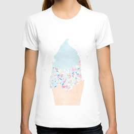 blue ice cream cone with sprinkles T-shirt