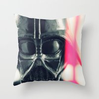 vader Throw Pillows featuring Vader by Fanboy30