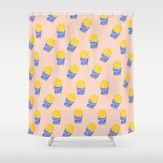 Floral Fries Shower Curtain