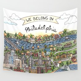 We Belong in Philadelphia! Wall Tapestry
