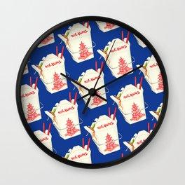 Chinese Takeout Pattern - Blue Wall Clock