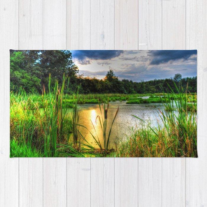Sunset Over the Marsh Rug