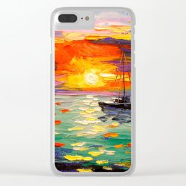 At sunset Clear iPhone Case
