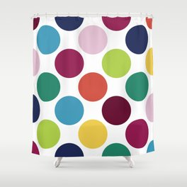 Colorful Dots Shower Curtain