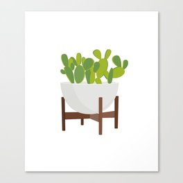Cactus in Planter Canvas Print