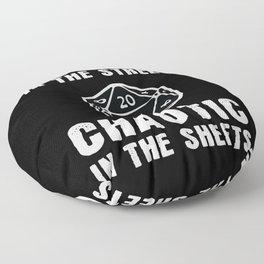 Chaotic In The Sheets Nerd Floor Pillow