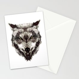 WereWolf Face - n°1 Colored Stationery Cards