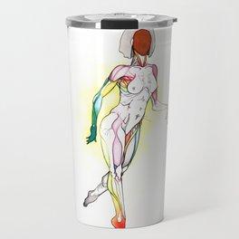 Cosmopolitan, Nude female anatomy, NYC artist Travel Mug