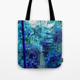 Tropical Green House - Blue Palette  Tote Bag