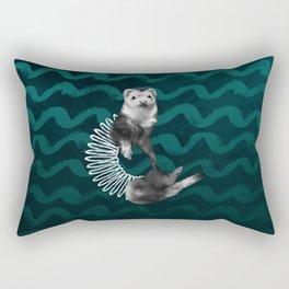 Ferret Slinky Rectangular Pillow