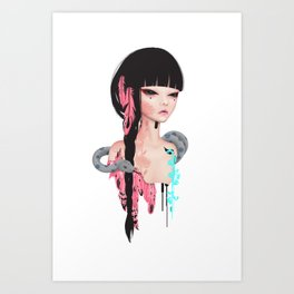 broken doll no.3 Art Print