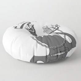 Tethered (B&W) Floor Pillow