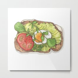 Breakfast & Brunch: Avocado Toast Metal Print