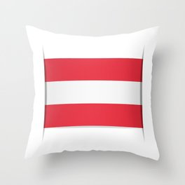 Flag of Austria. The slit in the paper with shadows.  Throw Pillow