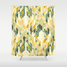 des-integrated tartan pattern Shower Curtain