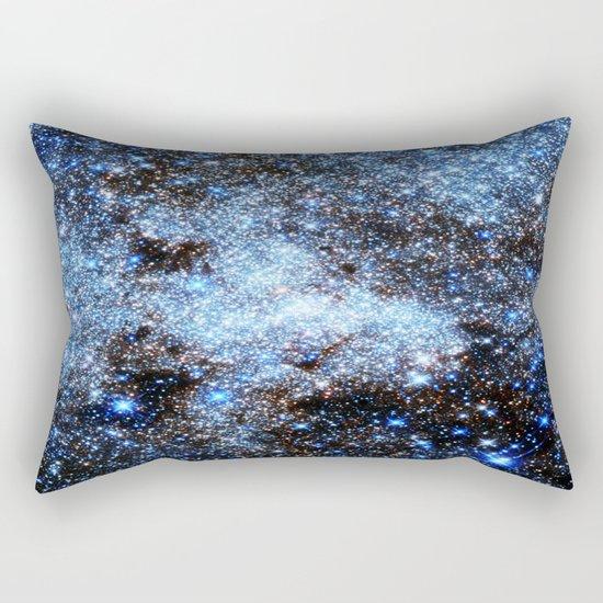 gAlaxY : Blue Sparkle Stars Rectangular Pillow