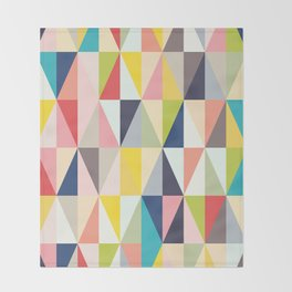 Abstract Geo Diamonds Throw Blanket