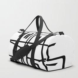 Alien Line Pattern Duffle Bag
