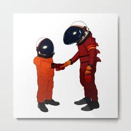 Alien Astronauts Metal Print