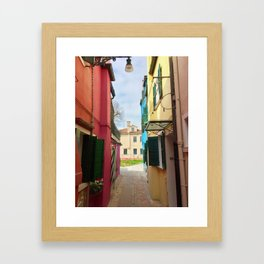 Been There, Shot That (Pt. 7 – Burano, Italy) Framed Art Print