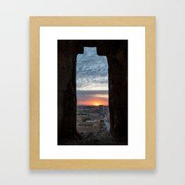Khiva Sunset Framed Art Print