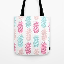 Pineapple Summer (pink and blue) Tote Bag