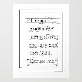 The Quick Art Print