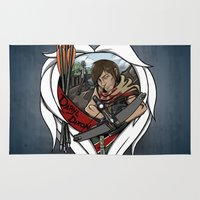 daryl Area & Throw Rugs featuring The Daryl Dixon by Vadsana