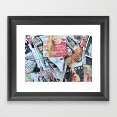 magazines Framed Art Print