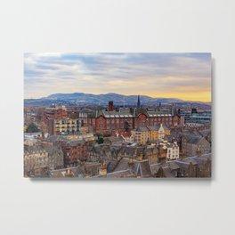 Edinburgh City View Metal Print