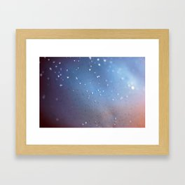Frozen Blue Framed Art Print