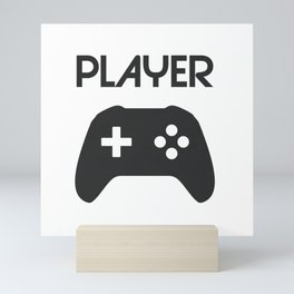 Player Text and Gamepad Mini Art Print