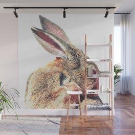 Rabbit Portrait Wall Mural