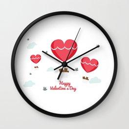 Happy Valentines Day Wall Clock