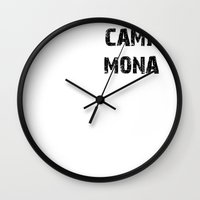pretty little liars Wall Clocks featuring Camp Mona - Pretty Little Liars (PLL) by swiftstore