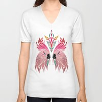 parrot V-neck T-shirts featuring parrot by Manoou