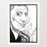 salvador dali Art Prints featuring Salvador Dali by Andrea Maiorana