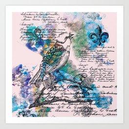 L'Oiseau Chanteur Art Print