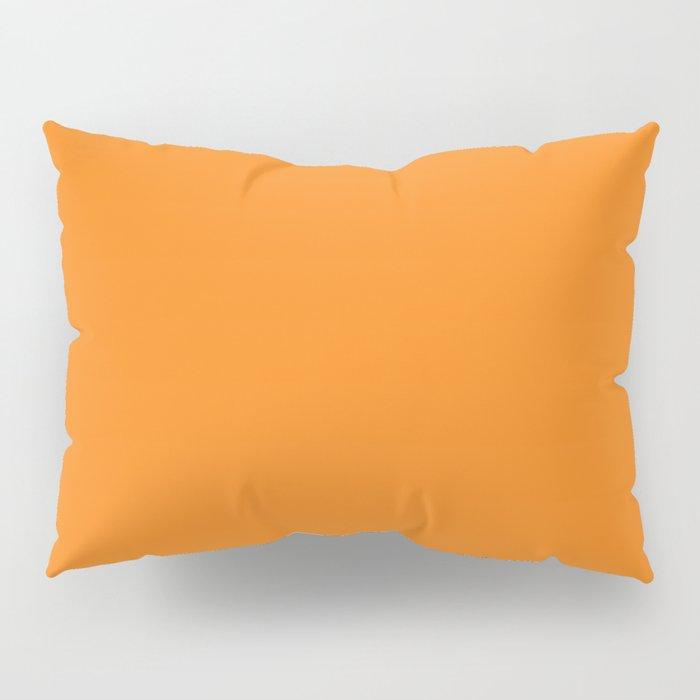 Solid Dark Orange Color Pillow Sham